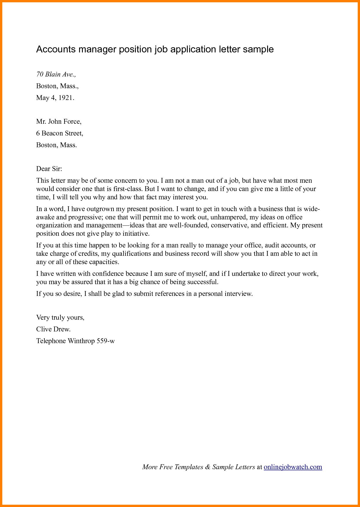 Job Application Letter Doc Format Newsinvitation