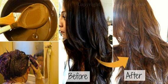 How to dye brown color hair naturally at home | Hair | Dyed ...
