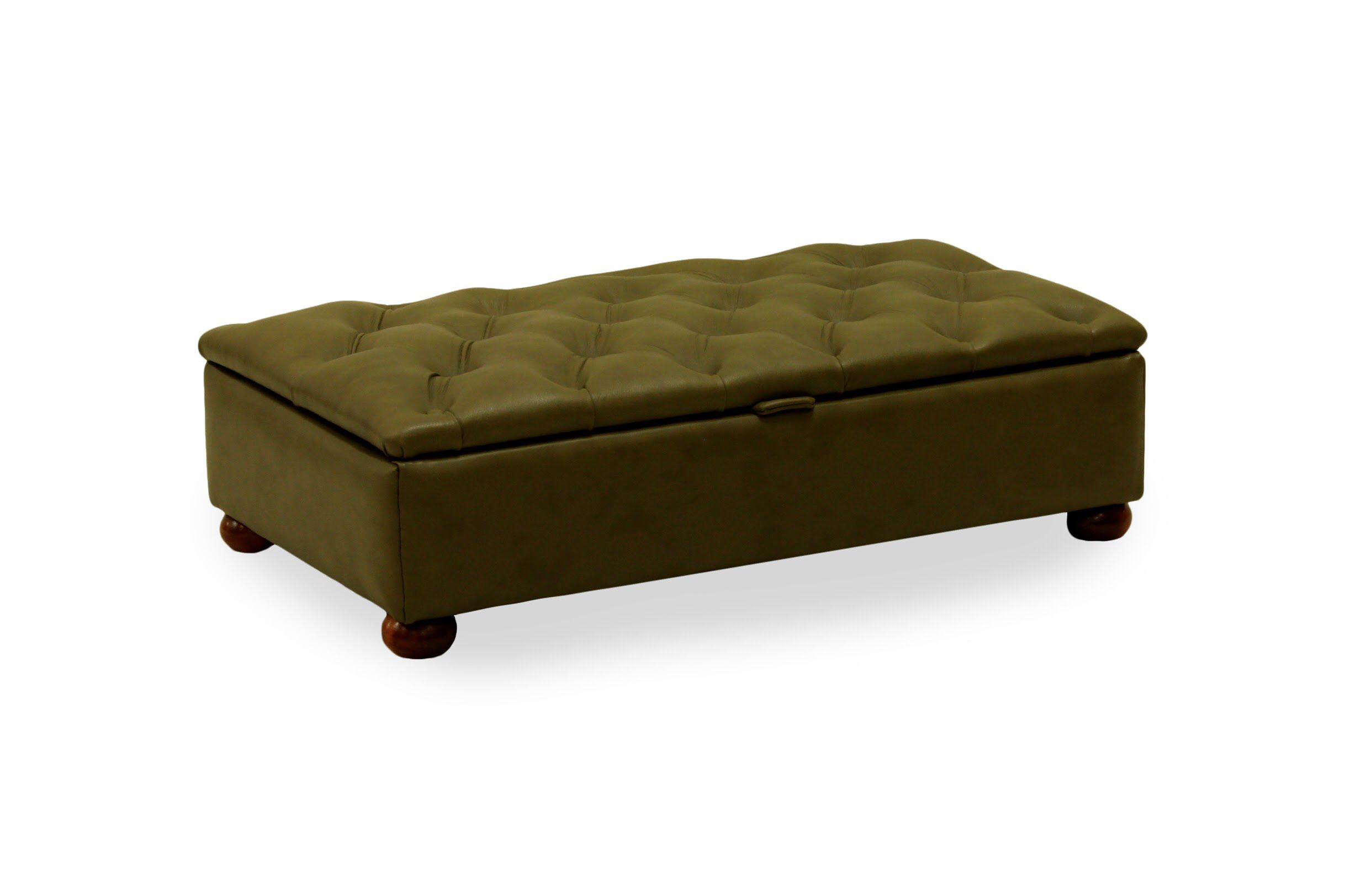 Phenomenal Buttoned Ottoman Handmade In Yarwoodleather Mustang Dark Ncnpc Chair Design For Home Ncnpcorg