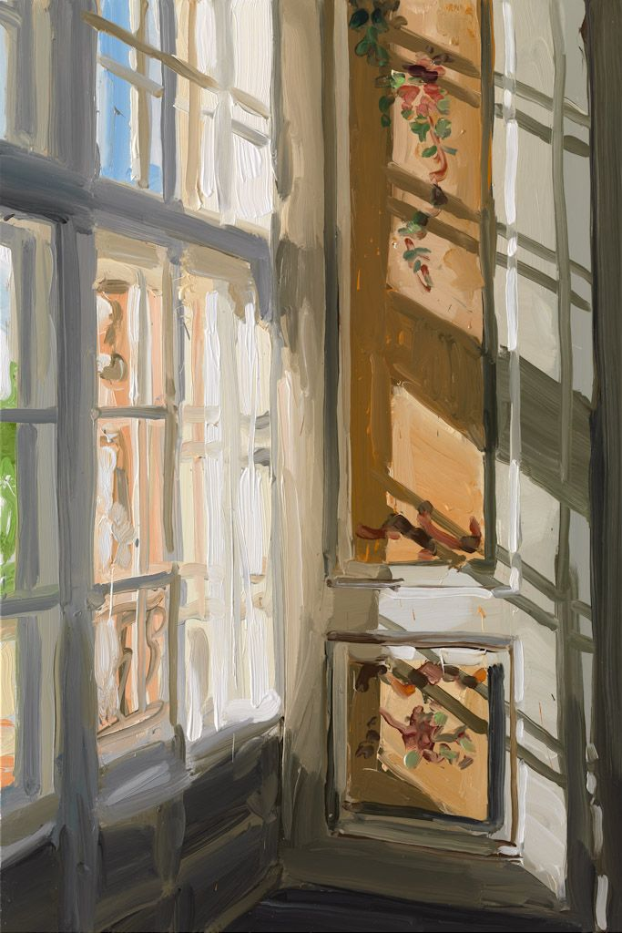 "huariqueje: ""Window - Jan De Vliegher 2010 Belgian b.1964- Oil on canvas 165 x 110 cm """