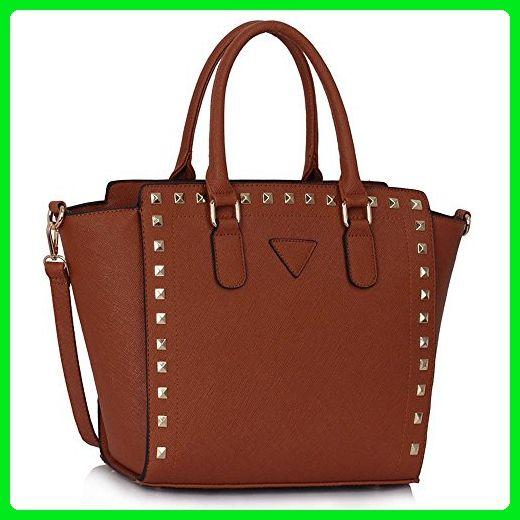 Womens Designer Ladies Faux Leather Style Celebrity Tote Bag Shoulder Handbag
