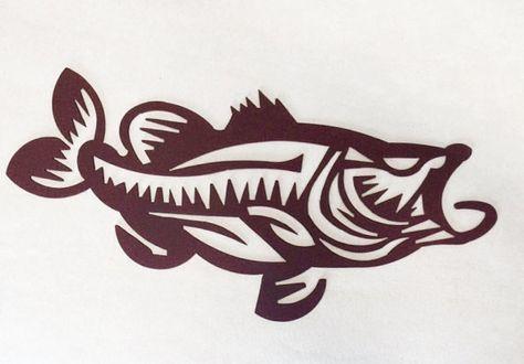 91f1b791ae7a8 Tribal Bass Fish 24 long Rust Bucket Powder by SweetHeatMetalArt Diy Screen  Printing, Tribal Tattoos