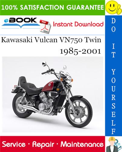 Kawasaki Vulcan Vn750 Twin Motorcycle Service Repair Manual 1985 2001 Download Kawasaki Vulcan Kawasaki Vulcan