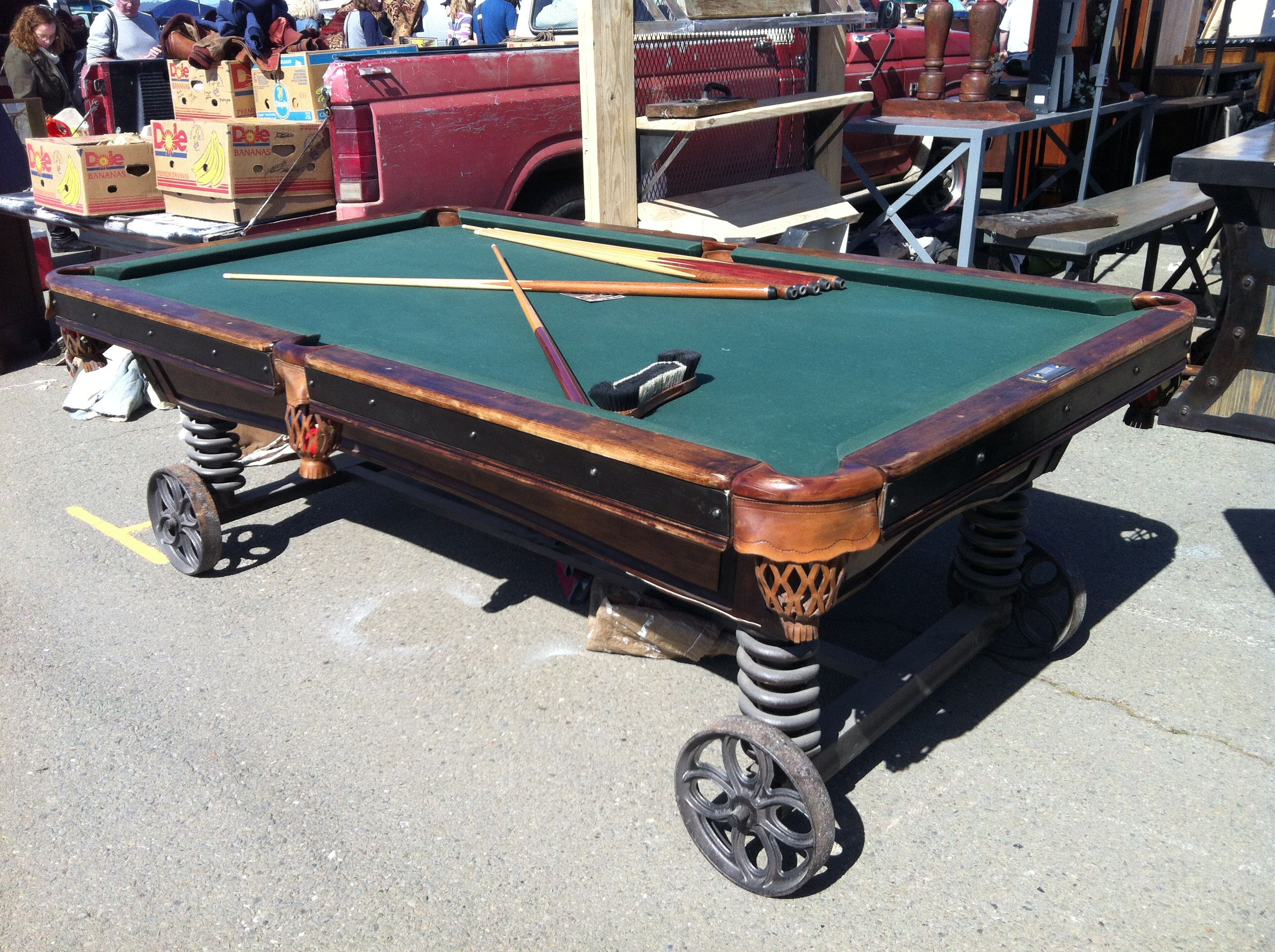 Such A Cool Pool Table. Only Need To Add Casters!
