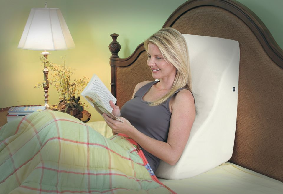 Back Wedge Pillow With Massage Sharper Image Wedge Pillow Bed