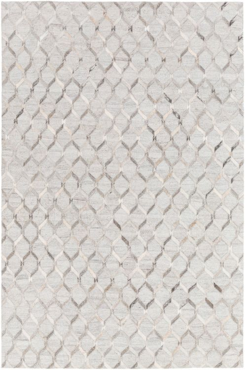 Medora Mod 1010 Area Rug With Colors Medium Gray Cream Light Gray Hand Crafted Viscose Hair On Hide F Area Rug Collections Contemporary Area Rugs Area Rugs