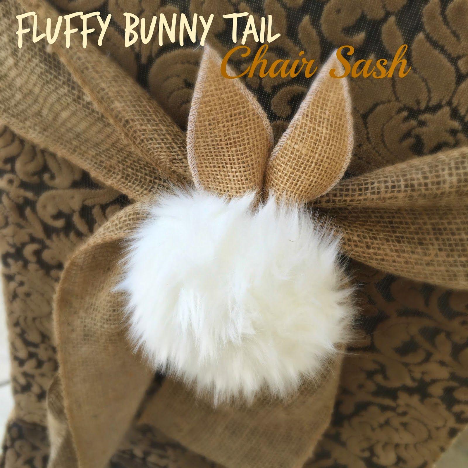 dollar tree bunny chair covers wedding silver sashes fluffy tail sash tutorial purple chocolat
