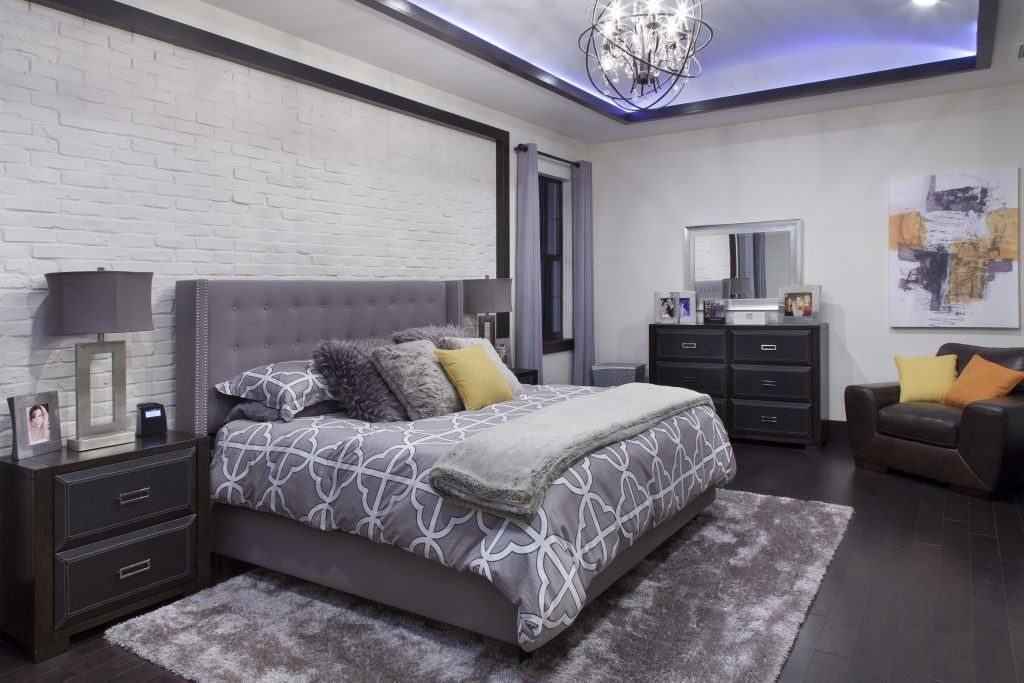 Master bedroom in Villa Sirena, a home by Orlando Custom Home Builder Jorge Ulibarri. Decor by Karen LeBlanc