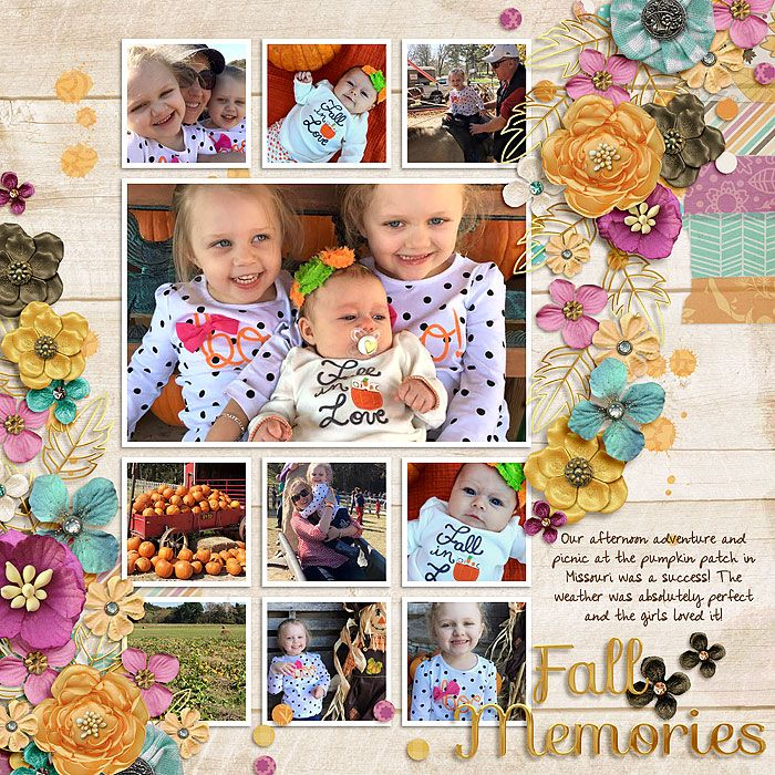 Digital Scrapbook Page Inspiration Amber Shaw Gallery At