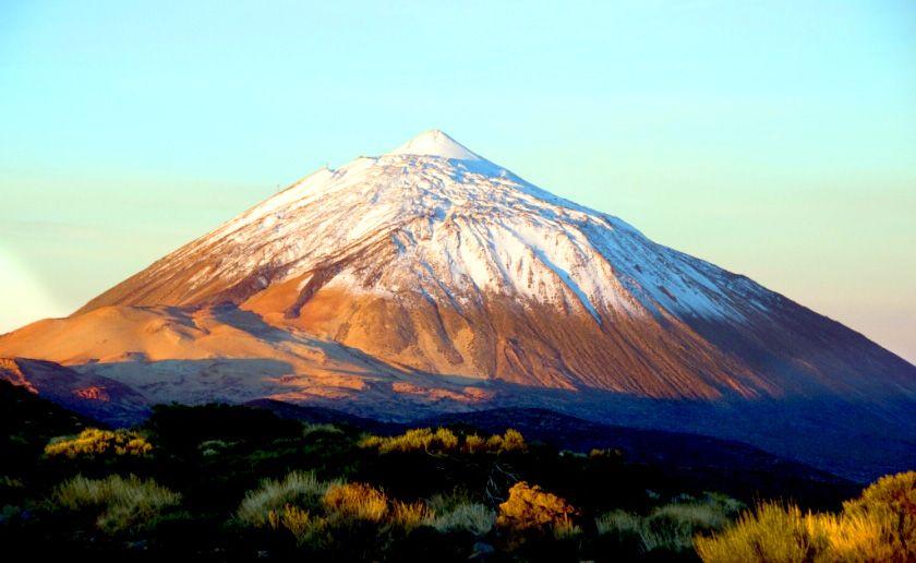 Fondo Escritorio Picos Montañas Nevadas: Paisajes Bonitos De España Pico Del Teide Nevado Nieve