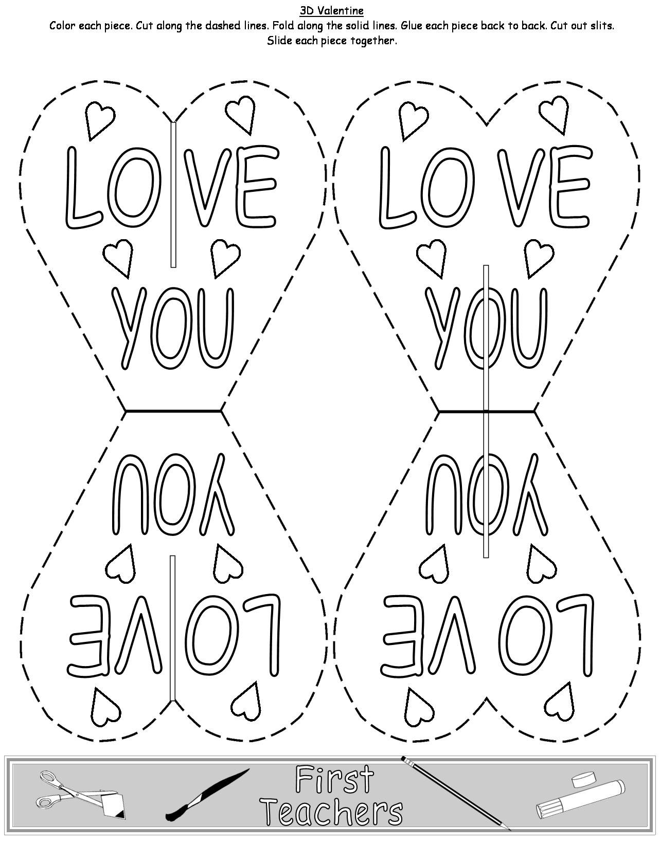 3 D Valentine S Day Card Kids Can Make And Give Copy And