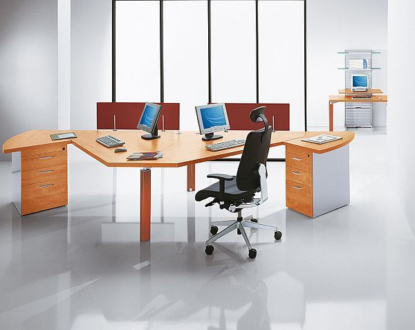 2 person desk double desk home office house things - Office table for two person ...