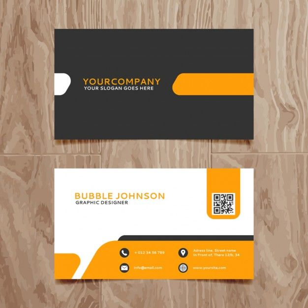 Modern simple business card template free vector design modern simple business card template free vector reheart Images