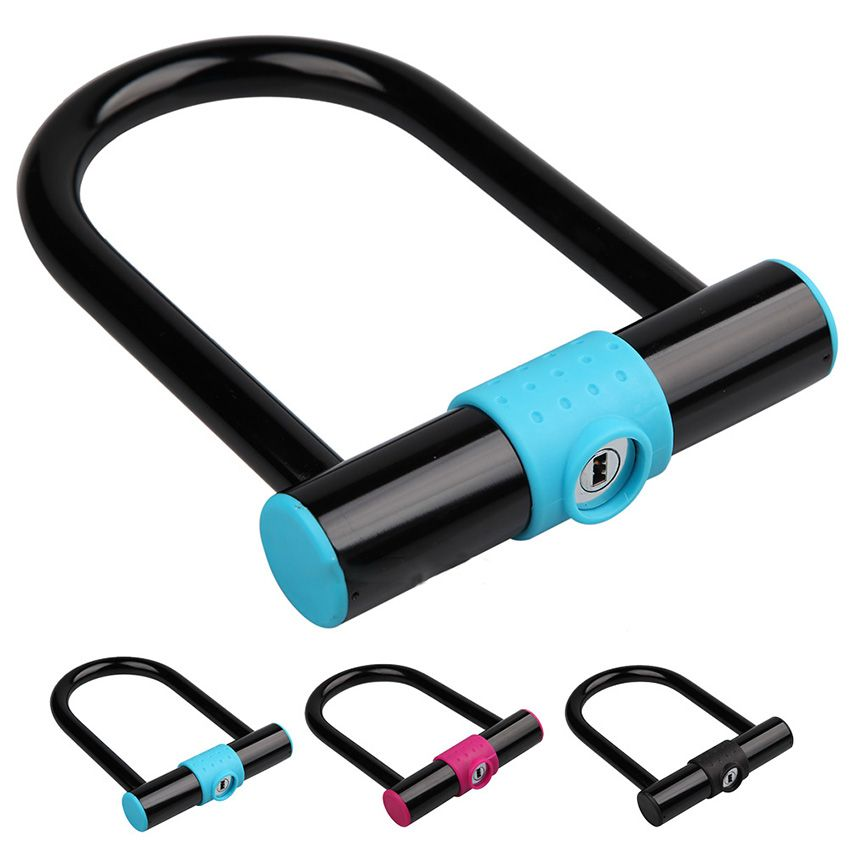New Steel Bicycle U Lock Bike Locks Anti Theft Cycle Cable Lock