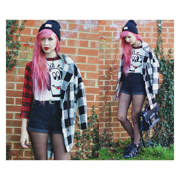 Rainbow Hair ❤ liked on Polyvore featuring hair and outfit