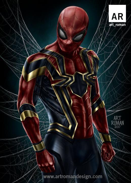 Spider Man Iron Spider 11x17 Marvel Spiderman Spiderman Marvel Heroes
