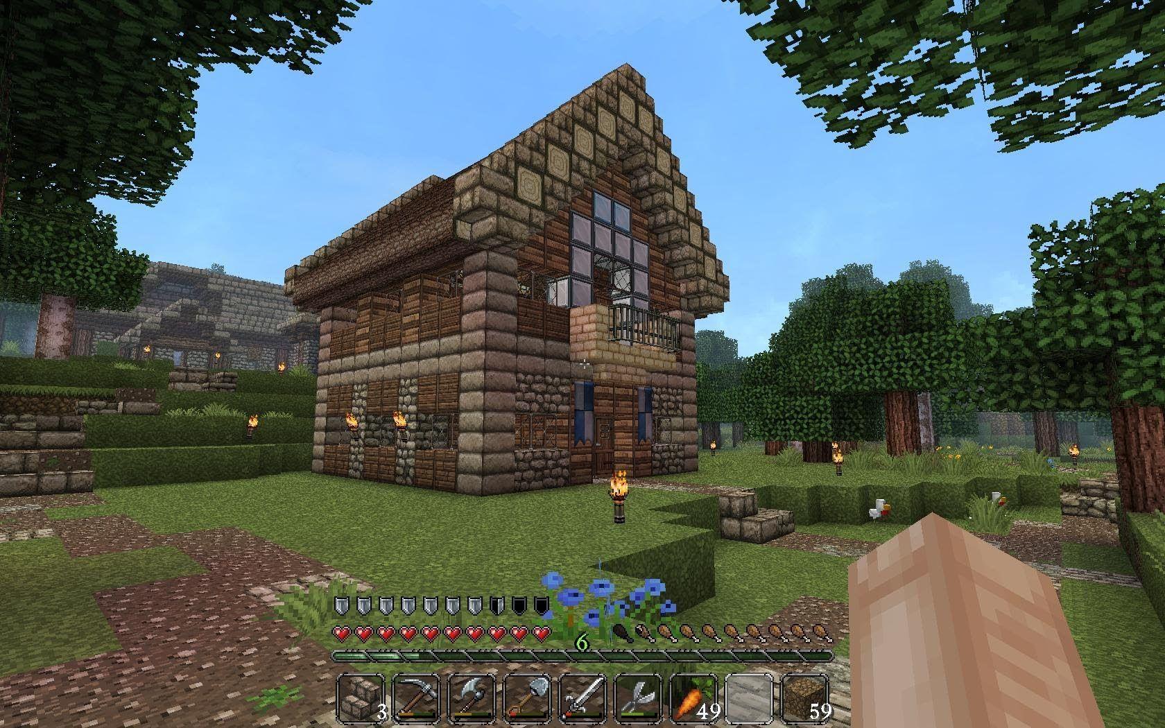 Lets Show Minecraft Mittelalter Haus Mine Thronsaal - Minecraft mittelalter haus bauen deutsch
