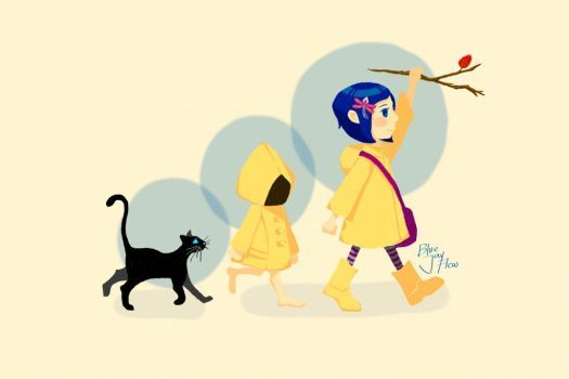 Little Nightmares X Coraline Crossover By Bluejayflew Little Nightmares Fanart Cartoon Crossovers Nightmare