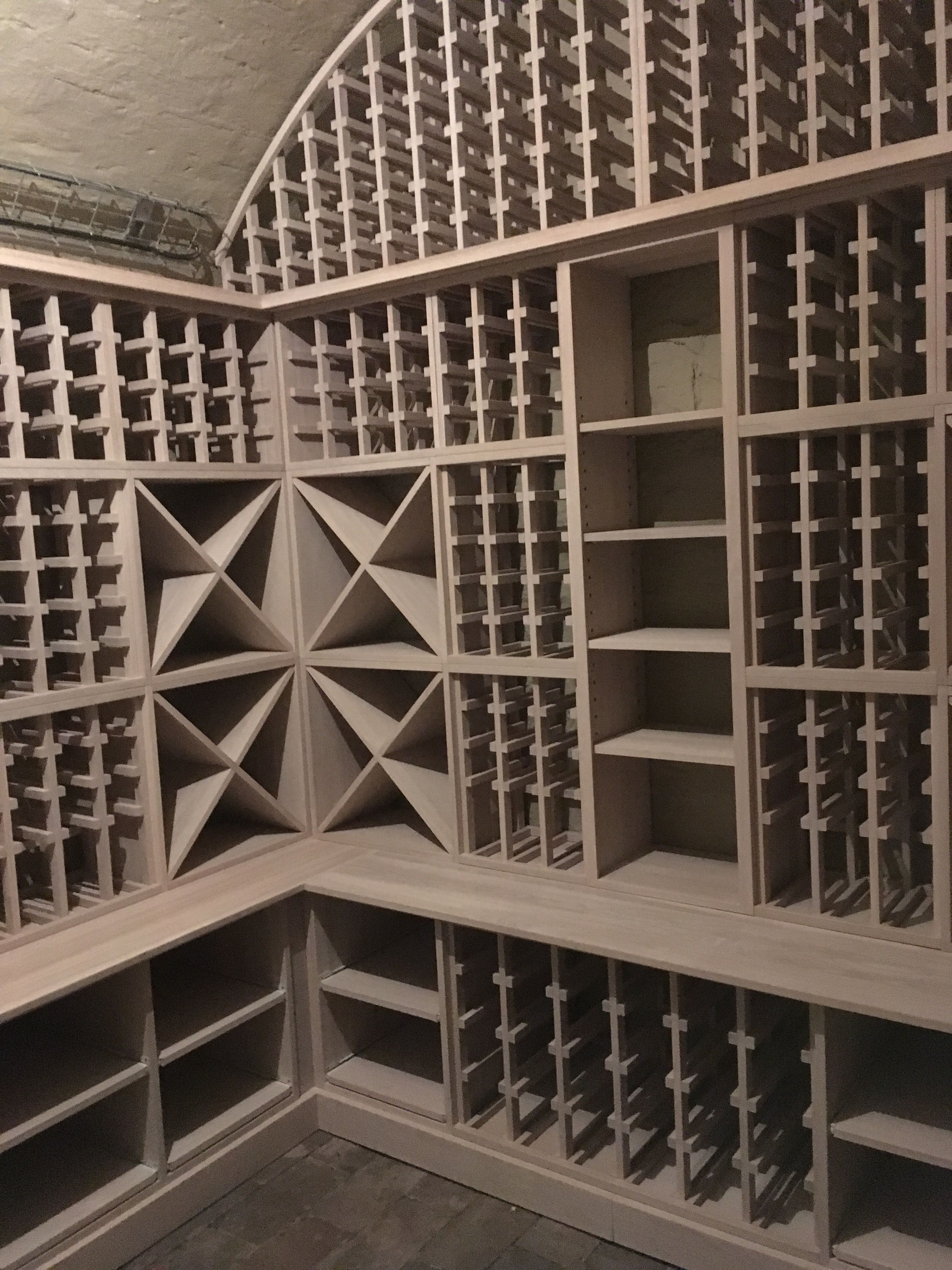 Arched Cellar Solid Oak Wine Racking