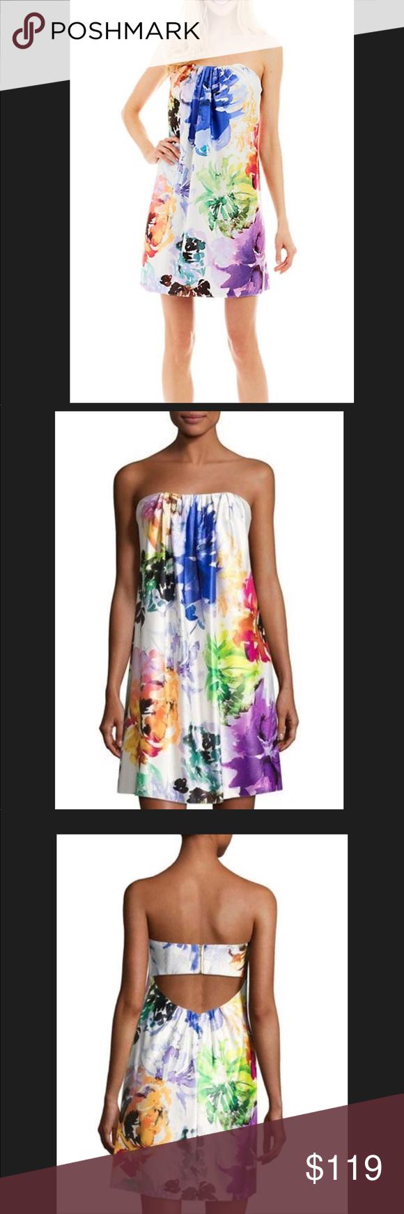79015951ab59 NICOLE Miller Strapless Floral Dress BNWT Nicole miller Nicole Miller New  York Floral Short Strapless Dress •Pleated strapless neckline; back cutout.
