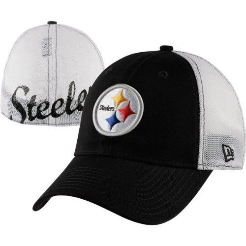 ee0fff2d Pittsburgh Steelers New Era 39THIRTY Stretch Print Mesh Flex Hat by ...