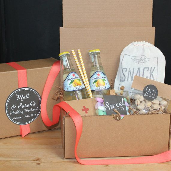 Gifts For Out Of Town Wedding Guests: Wedding Welcome Box // Out Of Town Guest Box