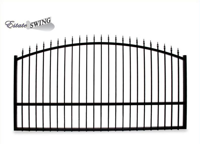 The Estate Swing 12 Foot Long Single Driveway Gate Made In Usa Driveway Gate Driveway Gate