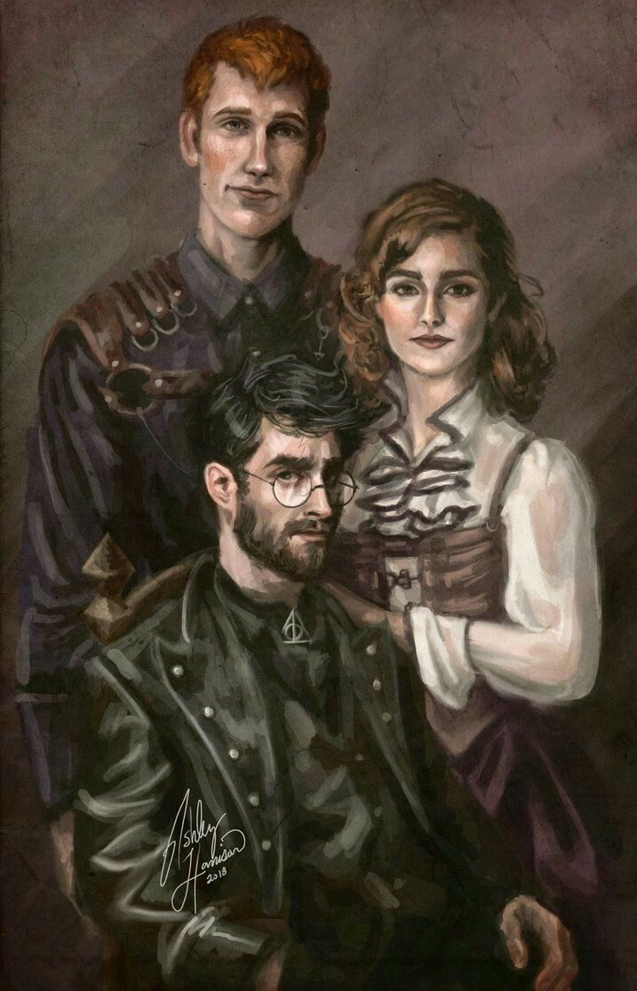 Beautiful portrait of HP and his closest friends. I will have to keep an eye on this artist. #divorce