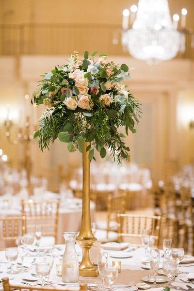Classic Minnesota Ballroom Wedding Wedding Centerpieces