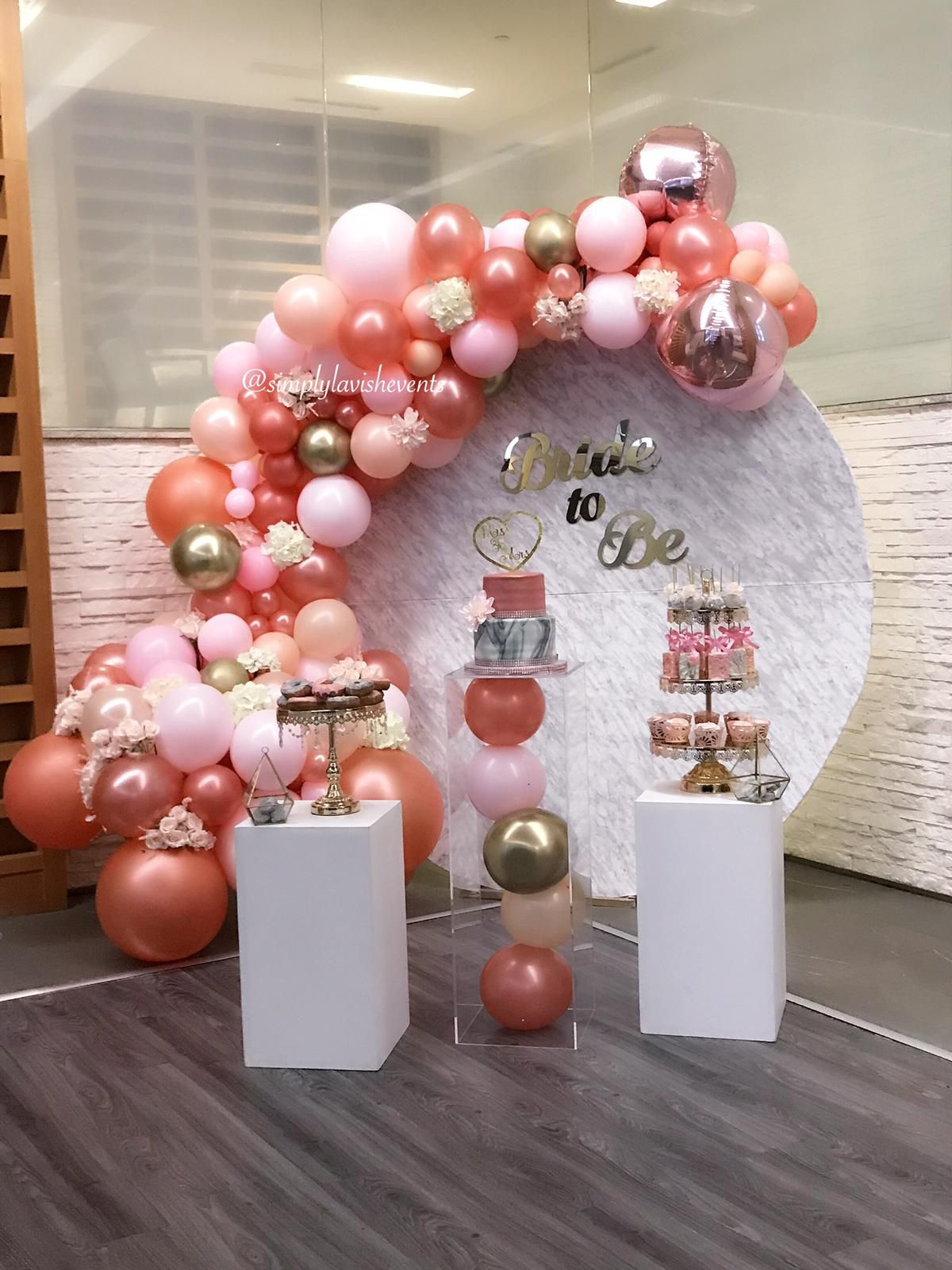 Rose Gold And Pink Bridal Shower And How Gorgeous Is This