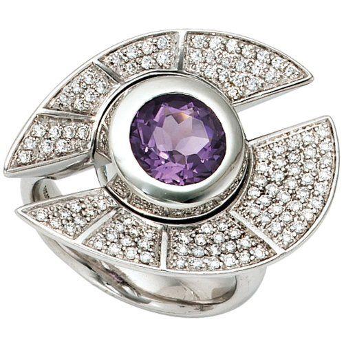 Damen-Ring 1 Amethyst 14 Karat (585) Weißgold 109 Diamant 0.60 ct. 56 (17.8) Dreambase http://www.amazon.de/dp/B00AEEHY8I/ref=cm_sw_r_pi_dp_AtZfwb0BBKCAQ