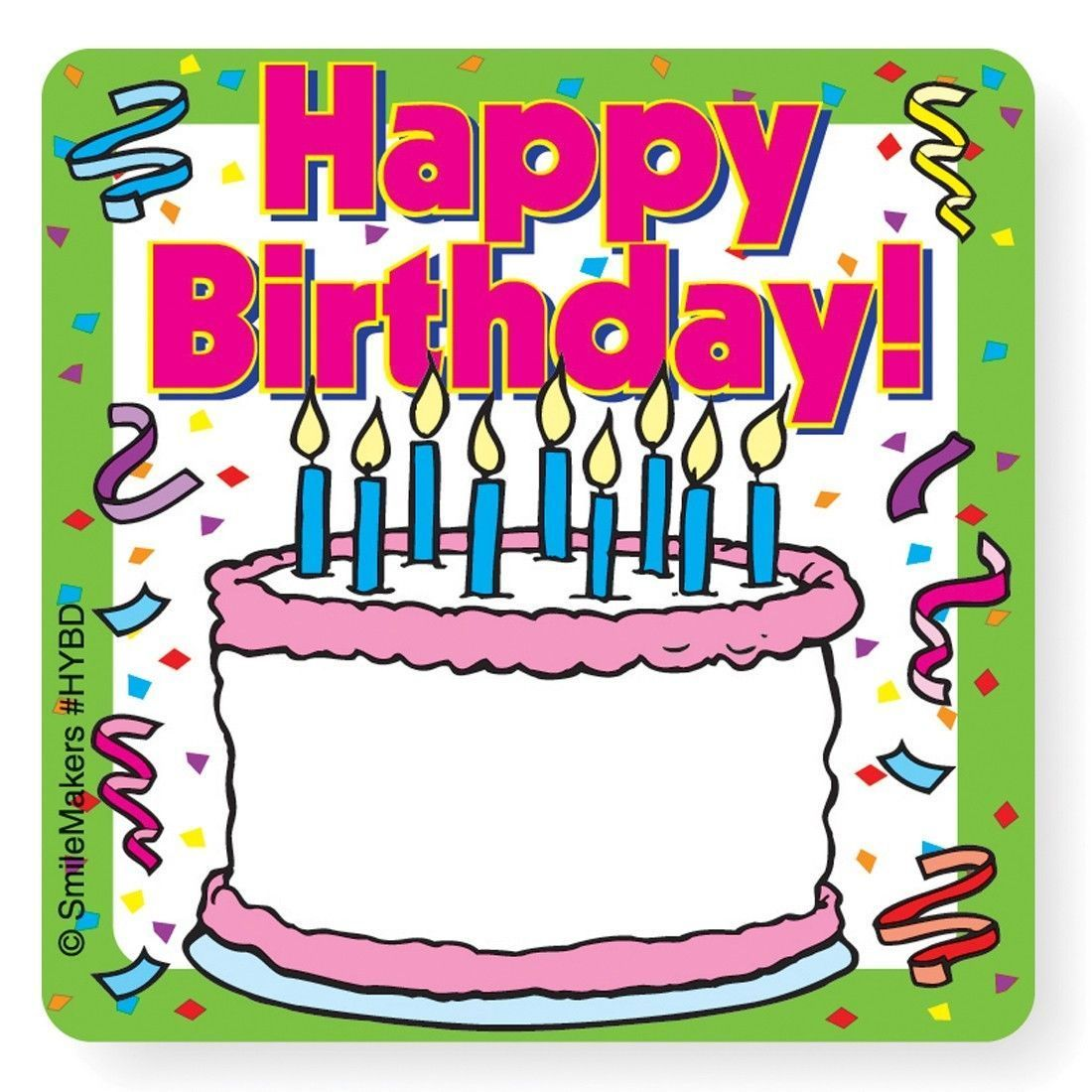 20 happy birthday write on name tag stickers 2 5 x2 5 each