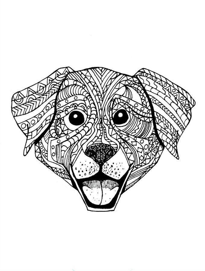 This Can Be Your Dog Mandala Chien Coloriage Mandala Mandala