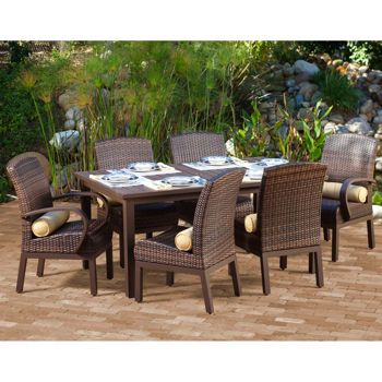 Costa Rica 7 Piece Patio Dining Collection By Mission Hills Outdoor Dining Furniture Outdoor Lounge Furniture