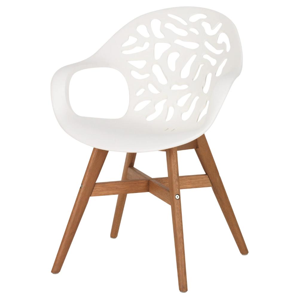 Angrim Chaise Blanc A Motifs Ikea Chaise Salle A Manger Chaises Blanches Ikea