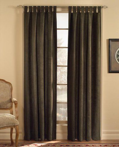 Curtains Ideas chocolate brown tab top curtains : 1000+ images about Curtain ideas on Pinterest | Window panels ...