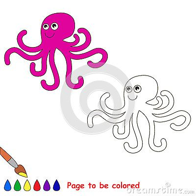 Cartoon Octopus To Be Colored The Pink Octopus Studio Octopus