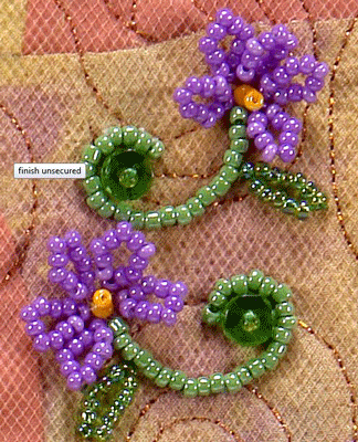 Learn How To Stitch Beaded Vines And Flowers With Bead Artist Nancy