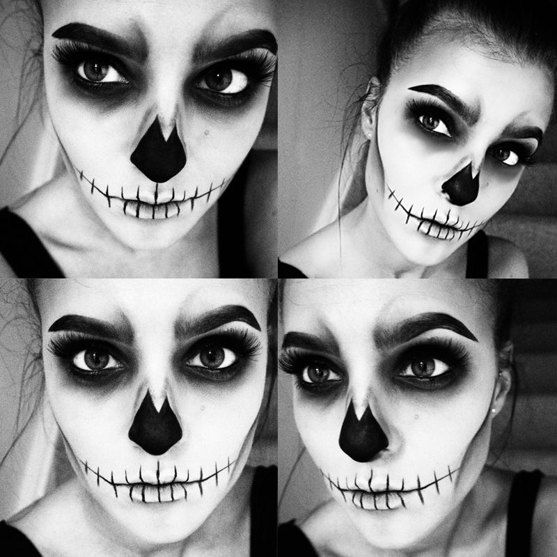 Easy Skull Makeup | Fall | Pinterest | Skull makeup, Makeup and ...