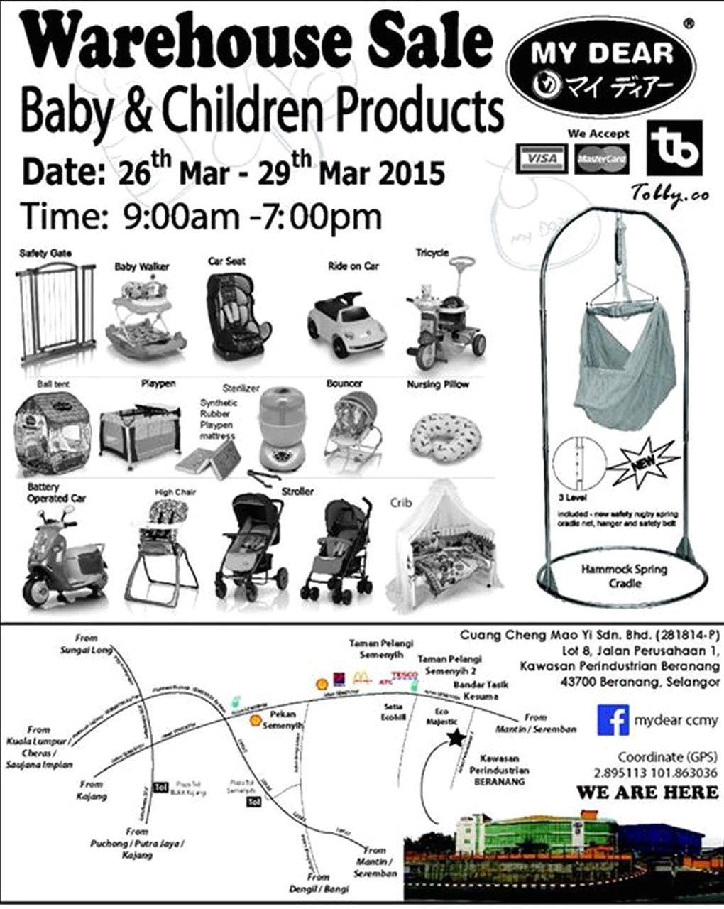 Branded Baby Products & Toys Clearance Warehouse Sale in