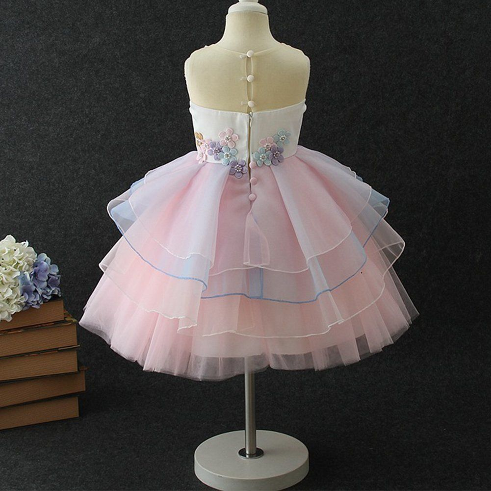 9c94461c6 Girls Unicorn Tutu Dress Horn Headband Toddler Halloween Costume Birthday  Party Gifts for Girls Kids Fancy Dress up Cosplay Pink 56 Years * Visit the  image ...