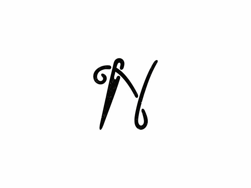 N Needle Alphabet 2 Logo Design Logo Design Logo Design