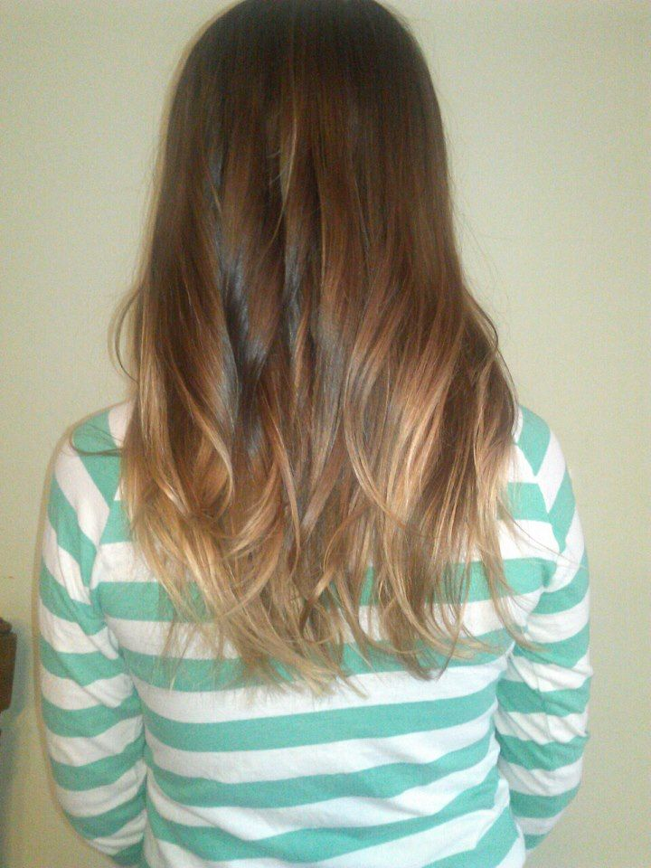 Light Ombre On My Little Sister Hair Ive Done Hair Light Ombre
