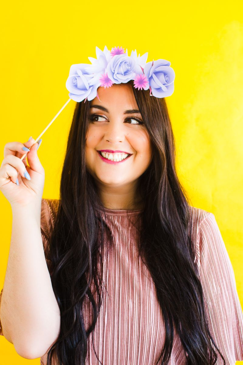 PRINT THESE SUPER PRETTY FLOWER CROWN PROPS