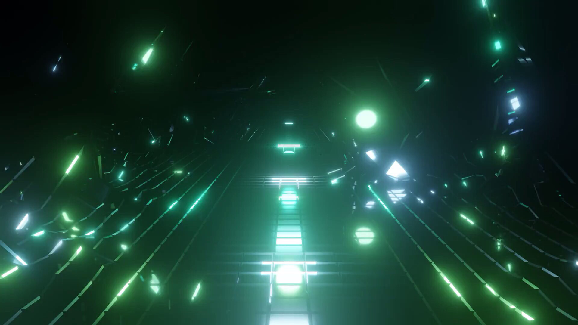 Free K Green Blinking Wireframe Reflections Wallpaper Free Video Background P Fps
