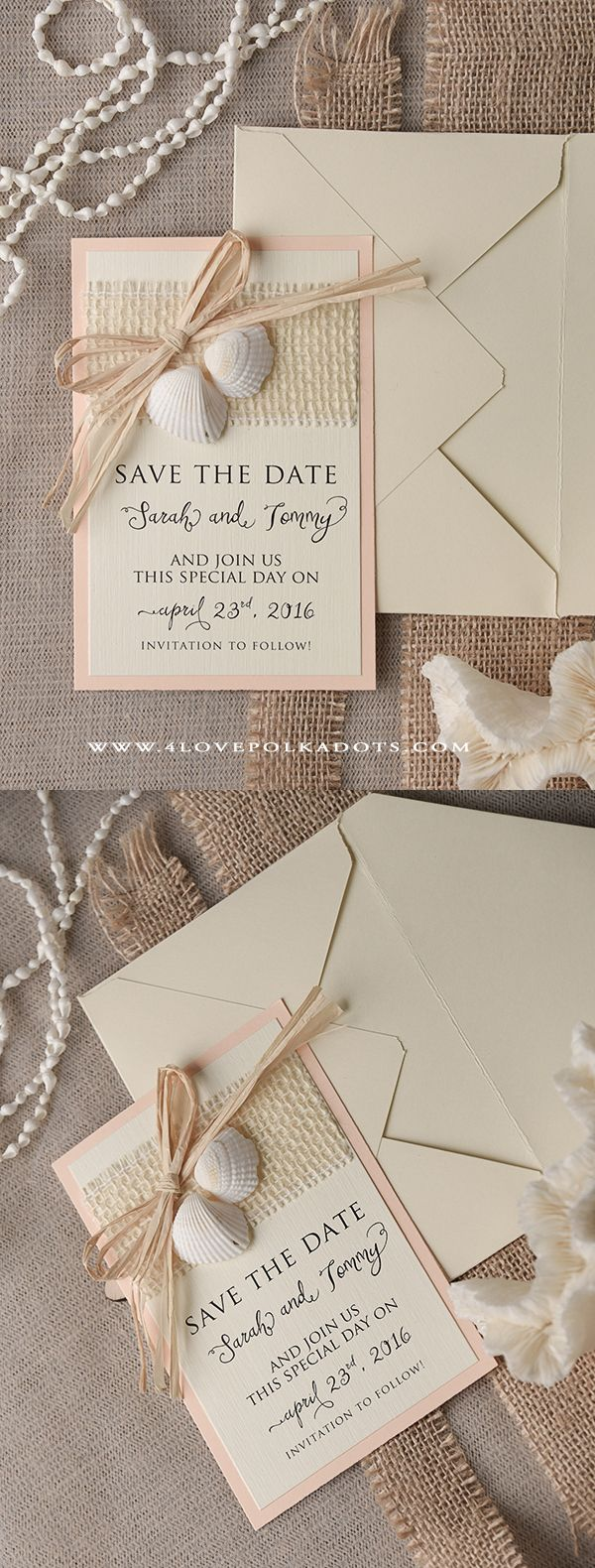 destination wedding save the dates and invitations%0A Please Save the Date   Beach Wedding Save the Date Seashells Card   beachwedding  destinationwedding