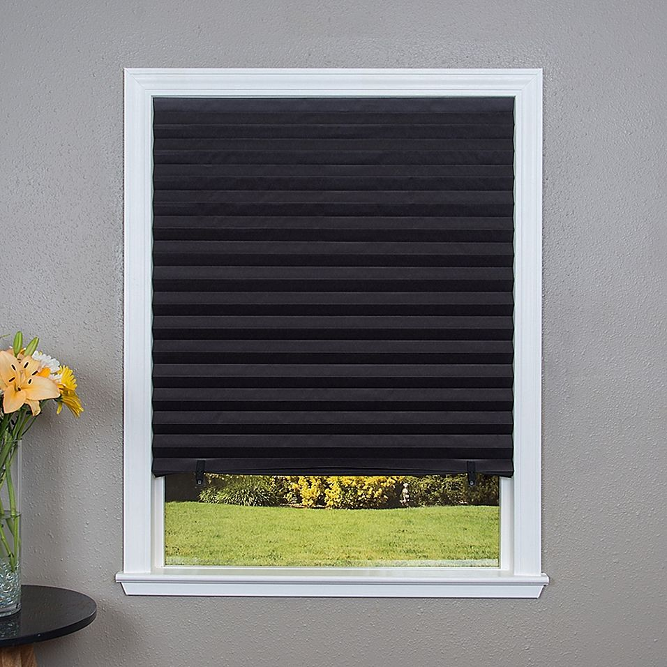 """Redi Shade Pleated Cordless 48"""" X 72"""" Blackout Paper"""