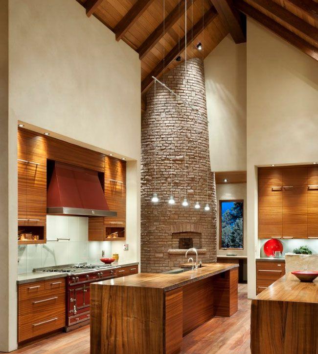 Iluminacion techos altos tonos pared techos altos - Iluminacion para cocina comedor ...