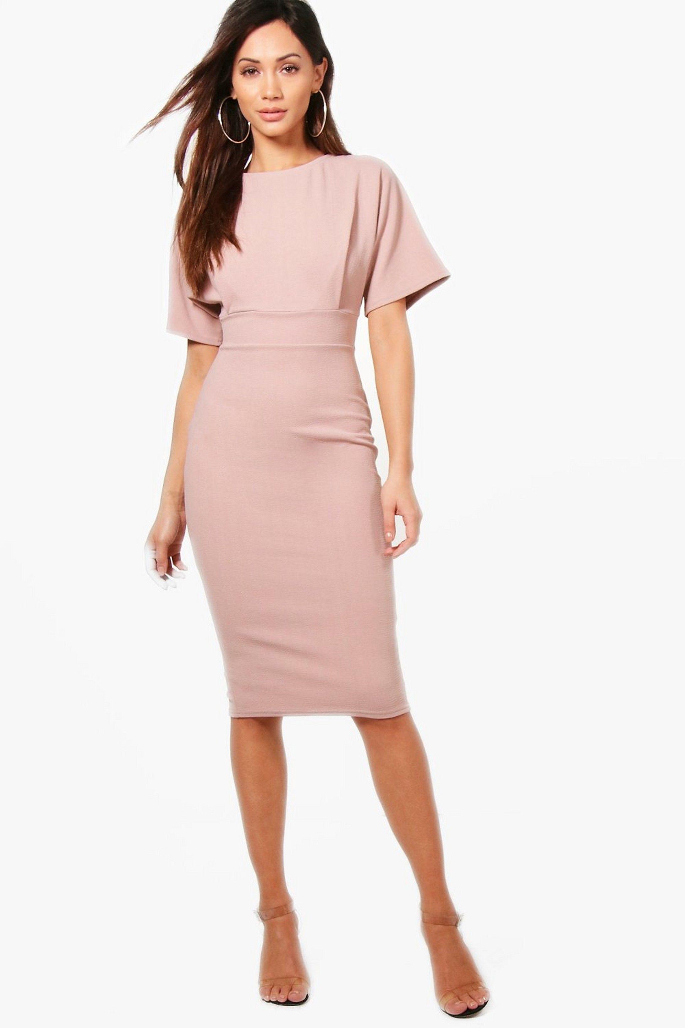51d39daff Petite Tie Waist Formal Wiggle Midi Dress in 2019 | Dress skirt ...