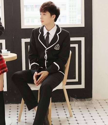 School blazer for boy Suit school uniform Uniform high school Knitted skirt suit with jacket Boy blazer